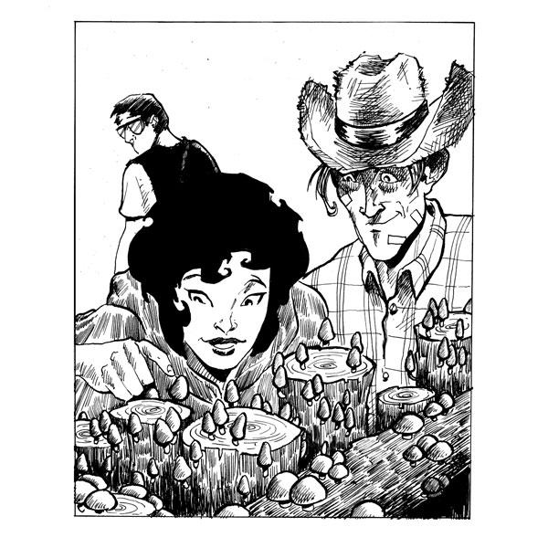 """Mushroom Walk"" - The Cleansed episode art by Simon Adams"